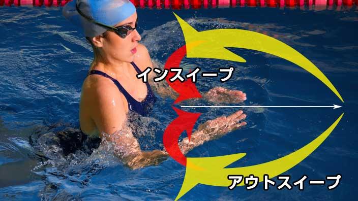 平泳ぎの手の動き図解