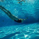 水泳のドリル練習
