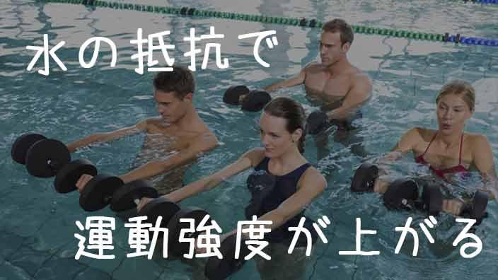 水の抵抗を利用して運動強度を上げるダイエット中の男女